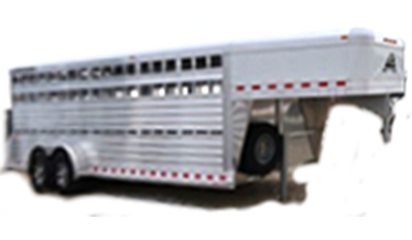 Stock trailers for sale at Iron Saddle Ranch